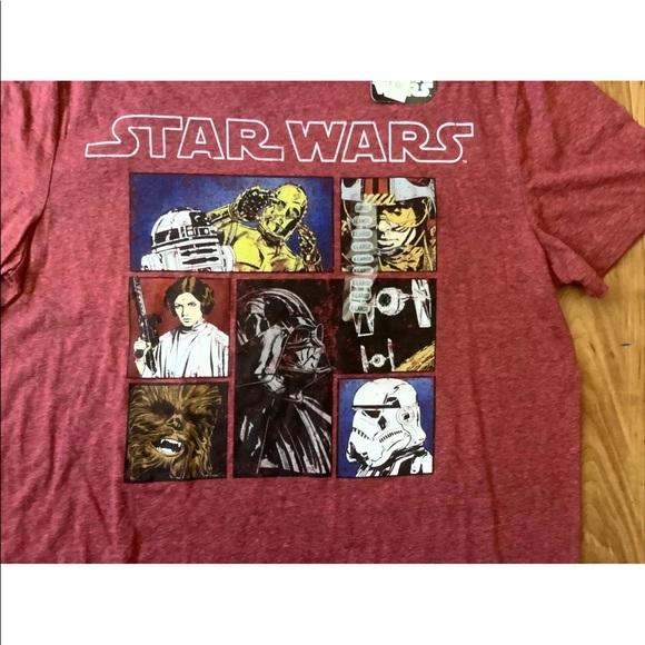 Star Wars Maroon T-shirt size XL NWT New